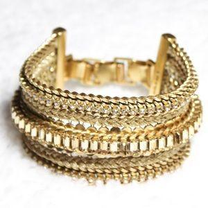 Stella & Dot Gold Tone Chain Bracelet
